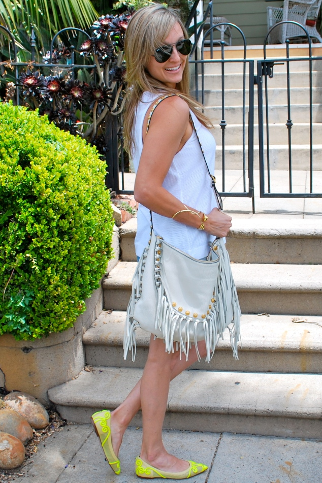 Valentino Neon Flats, Fashion blogger Sarah Marie Lieber